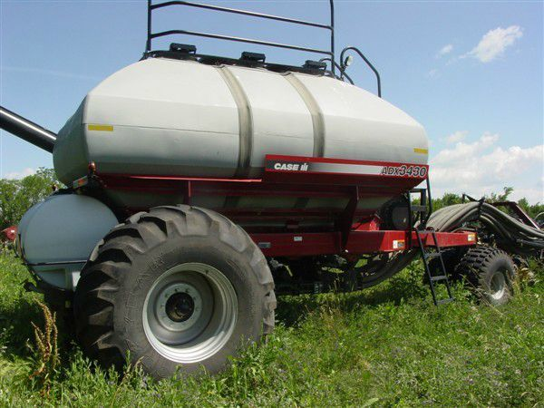 Fertilizer tanks in field