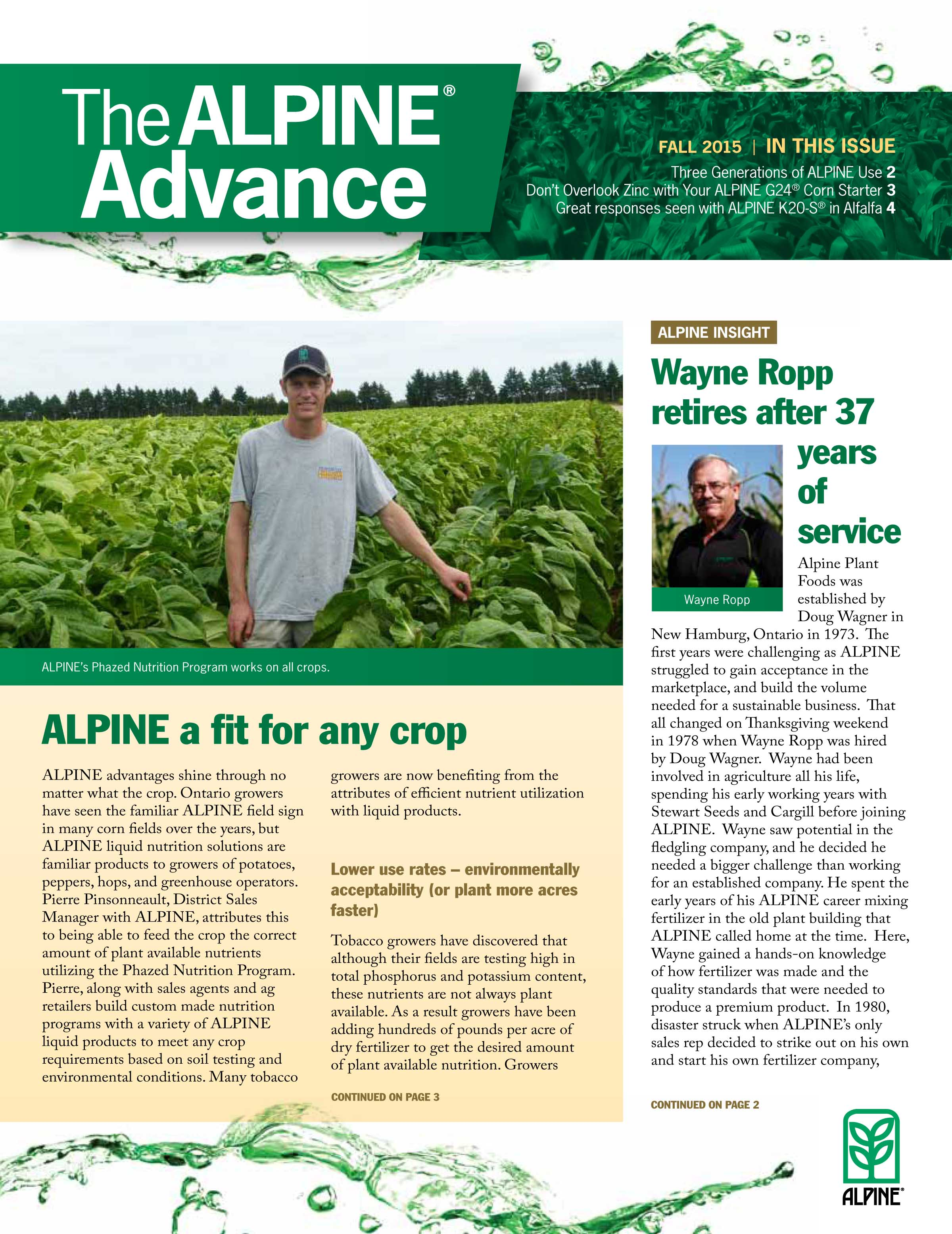 The Alpine Advance Fall 2015