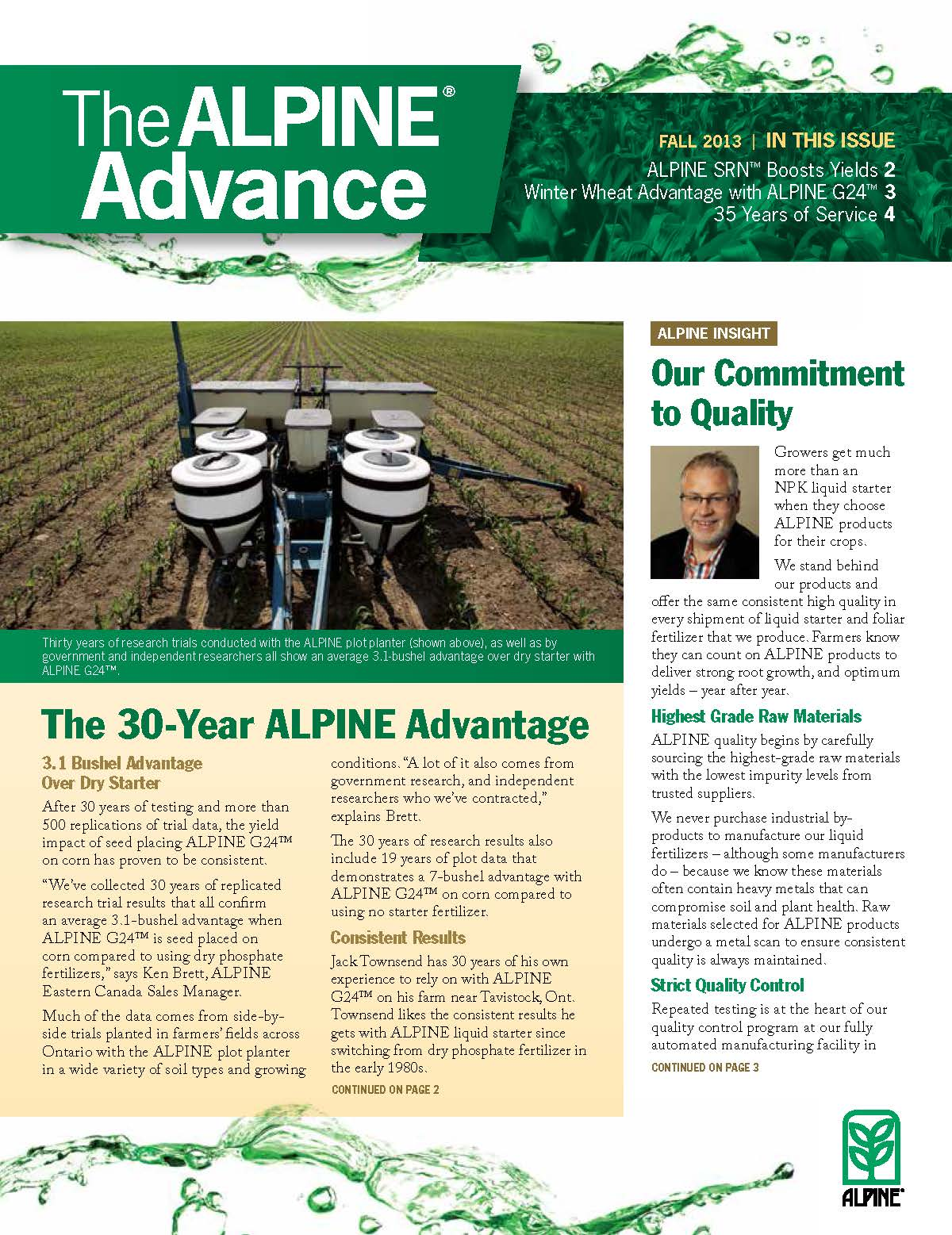 The Alpine Advance Fall 2013