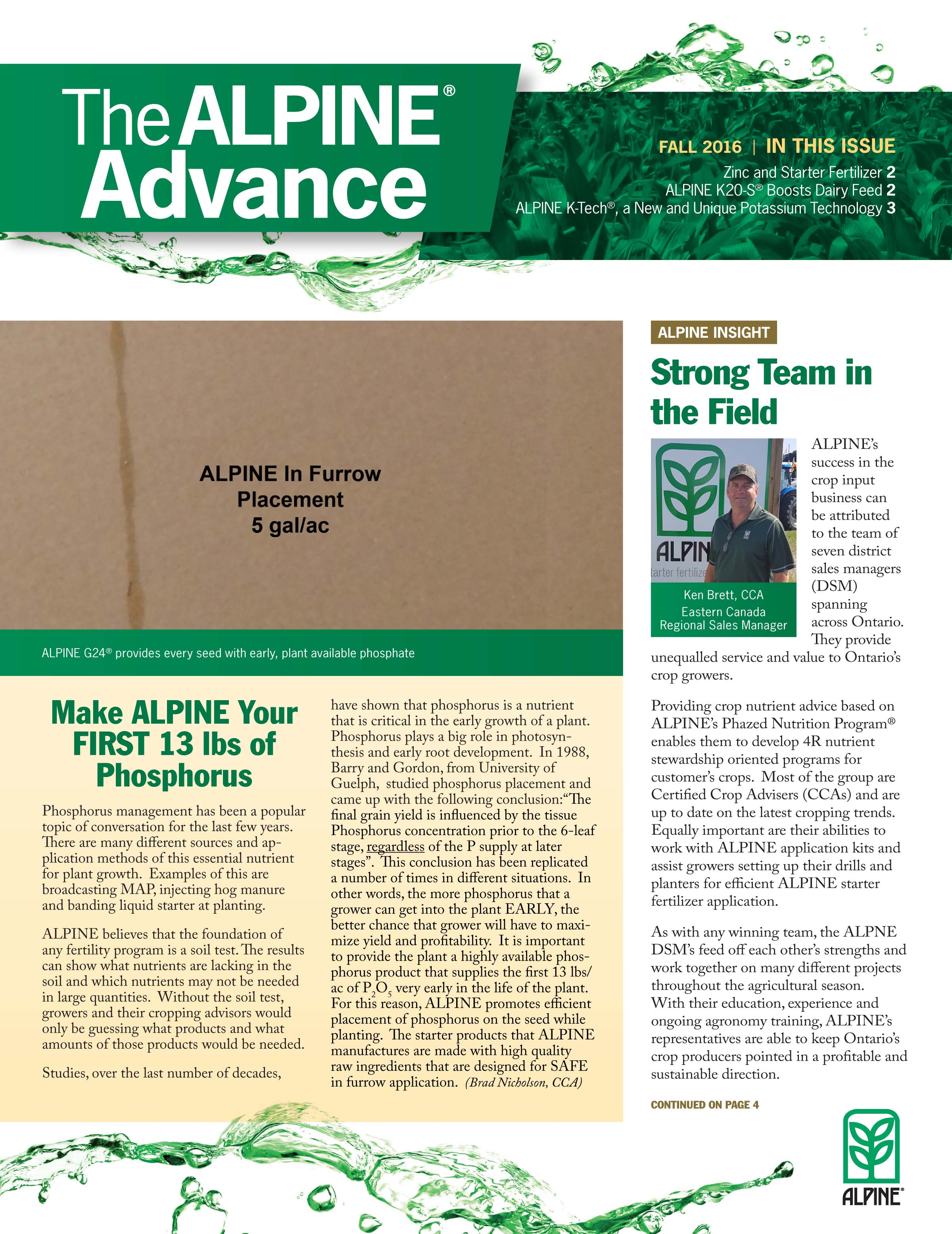 The Alpine Advance Fall 2016
