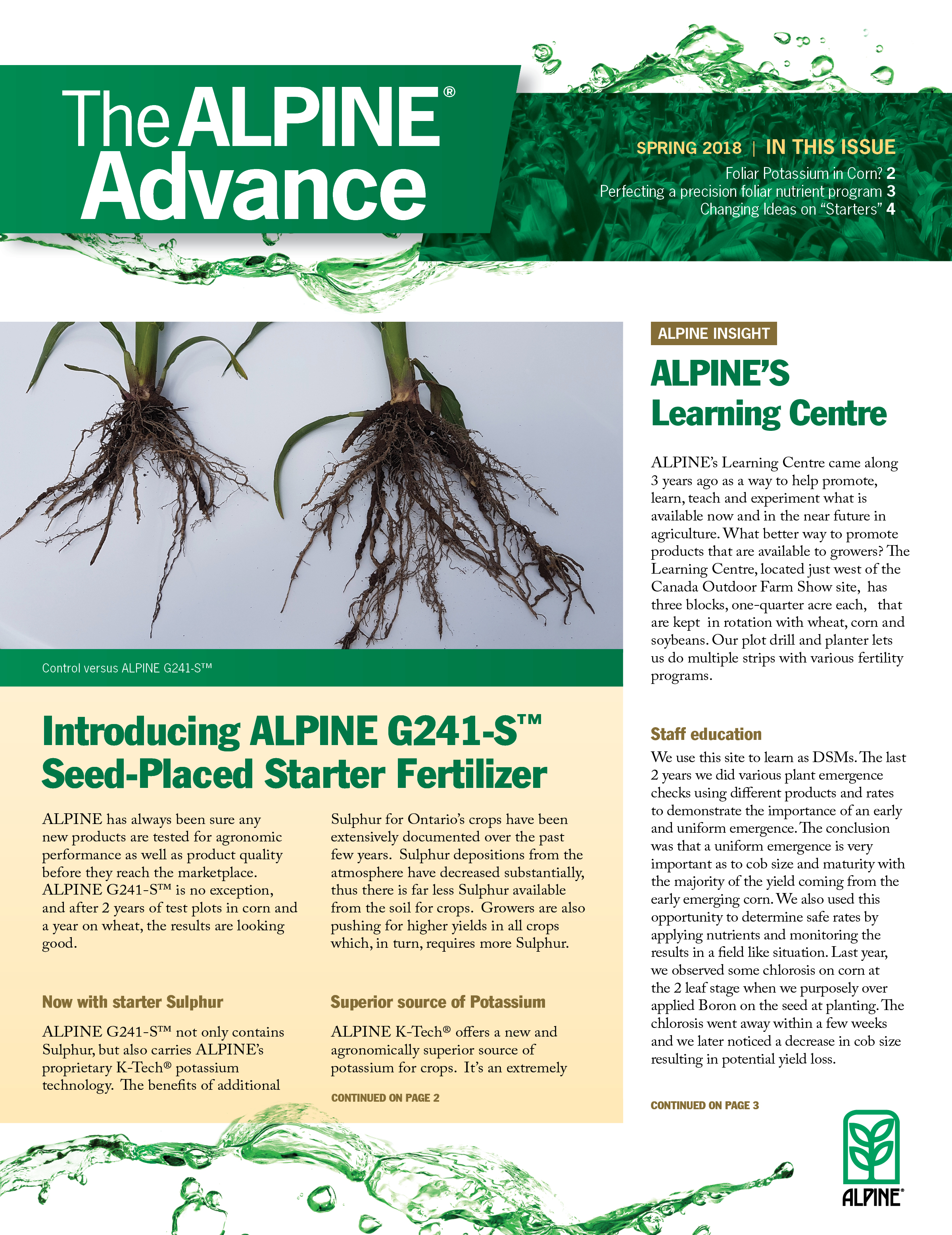 The Alpine Advance Spring 2018