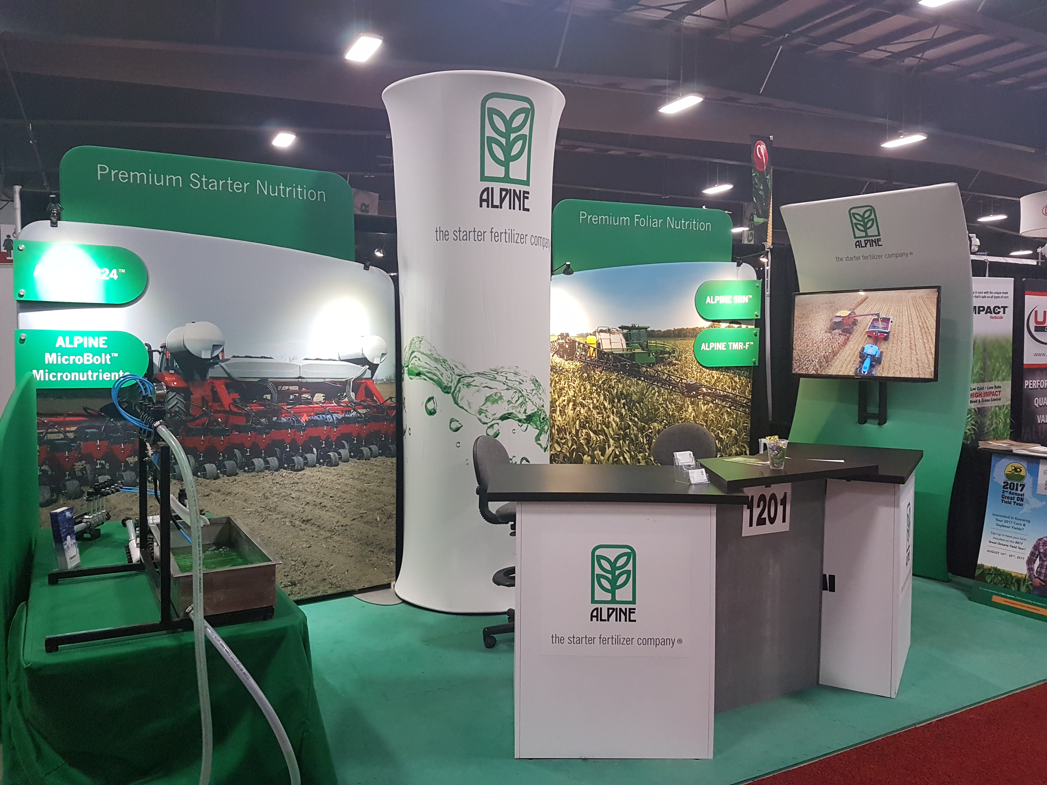 Alpine booth at agriculture show